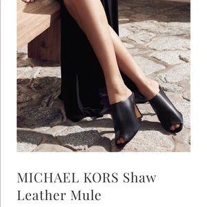 MICHAEL KORS Shaw Leather Mule